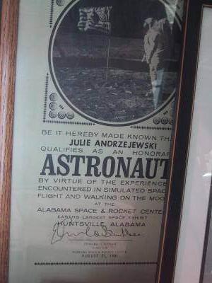 Pre-Space Camp Diploma