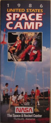 Cover of 1986 Space Camp Brochure