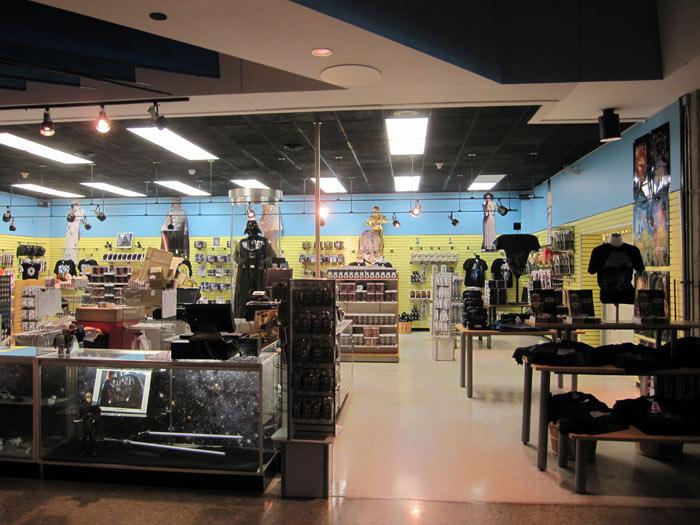 Gift Shop Full of Star Wars Merchandise