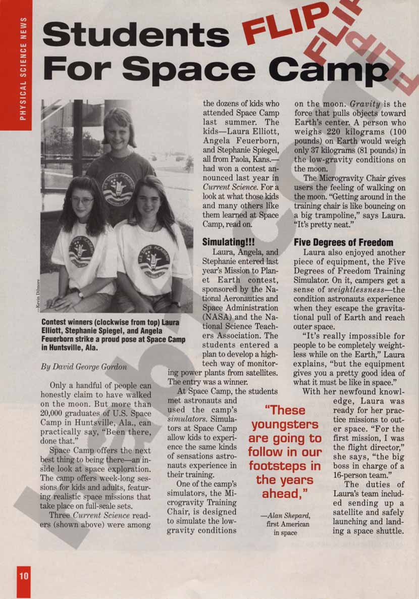 Current Science Magazine Page 1 - December 1995