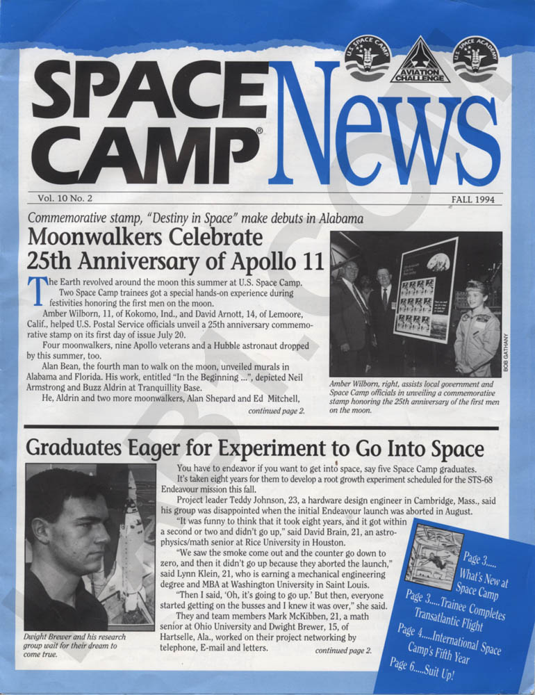 Space Camp News - Fall 1994 - Page 1