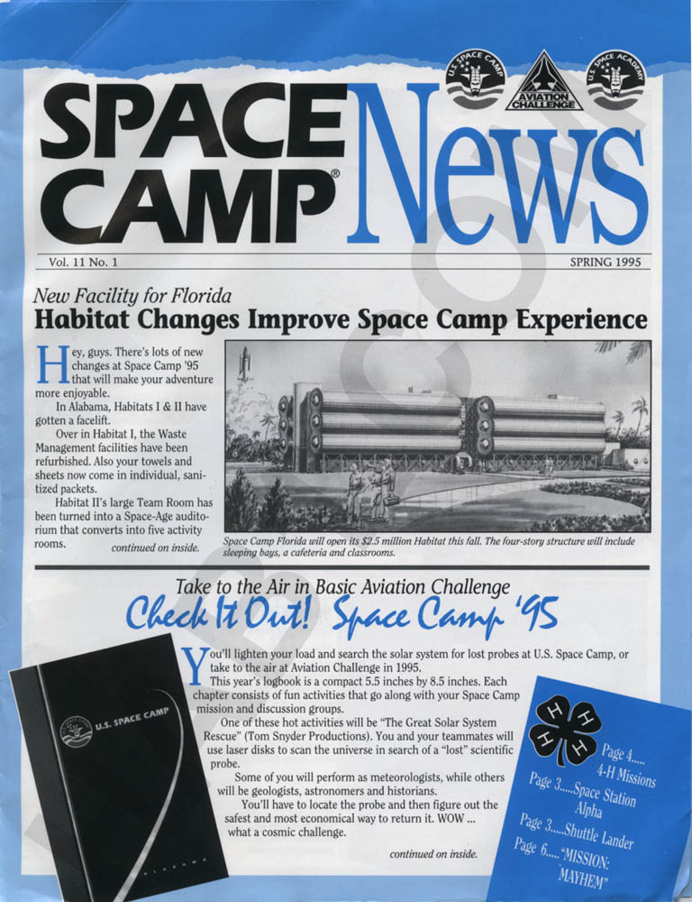 Space Camp News - Spring 1995 - Page 1
