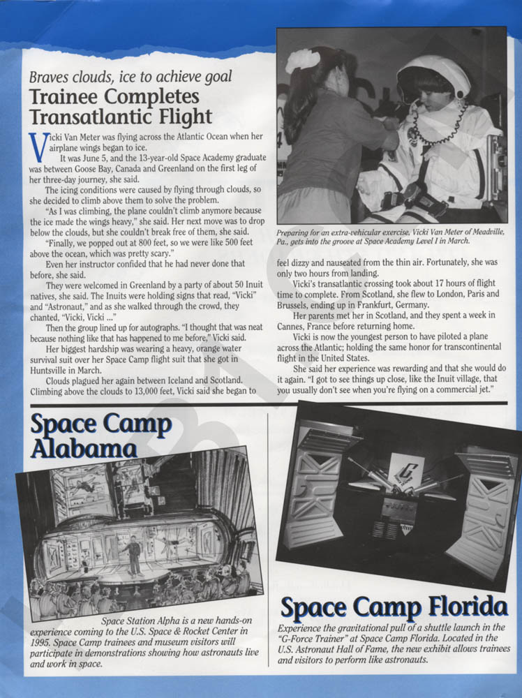 Space Camp News - Fall 1994 - Page 3