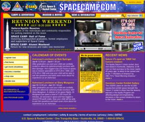 Space Camp Website circa May 2008