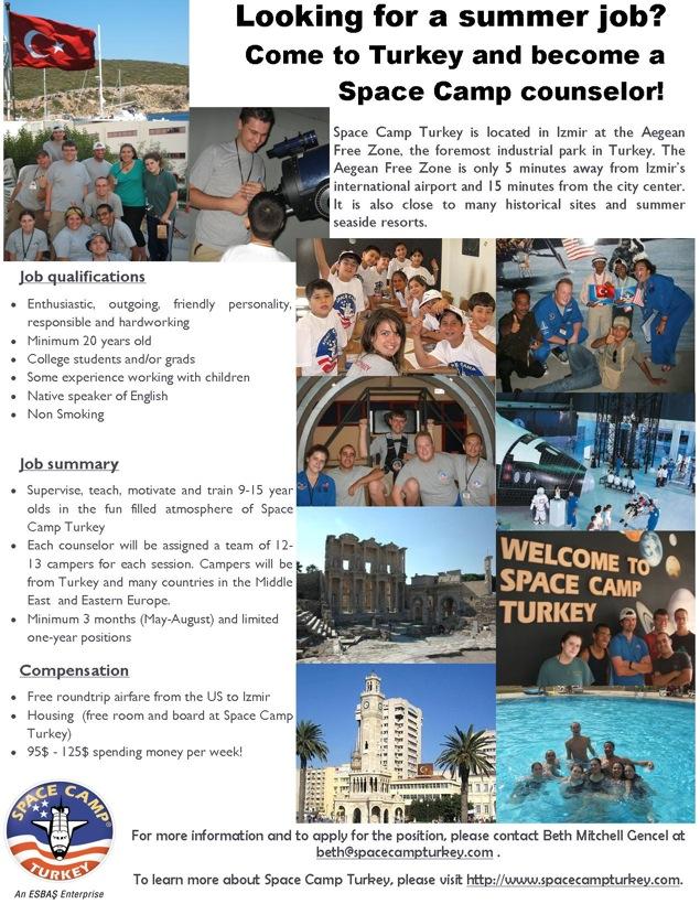 Space Camp Turkey - Summer 2008 Advert