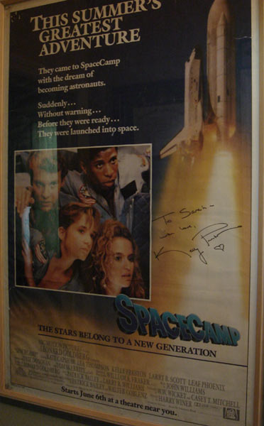 Kelly Preston Signed Space Camp Poster