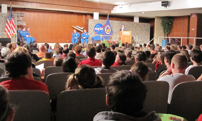 Space Campers Attend STS-130 Crew Visit