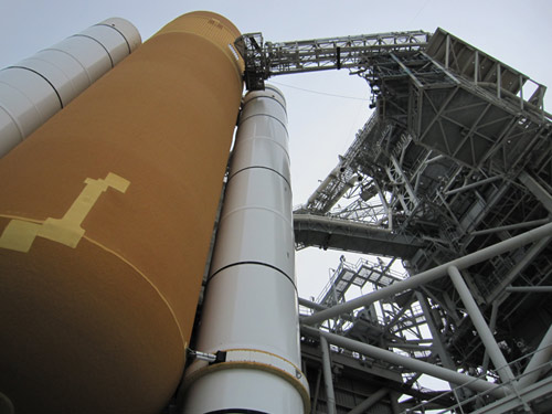 STS-131 on Launch Pad