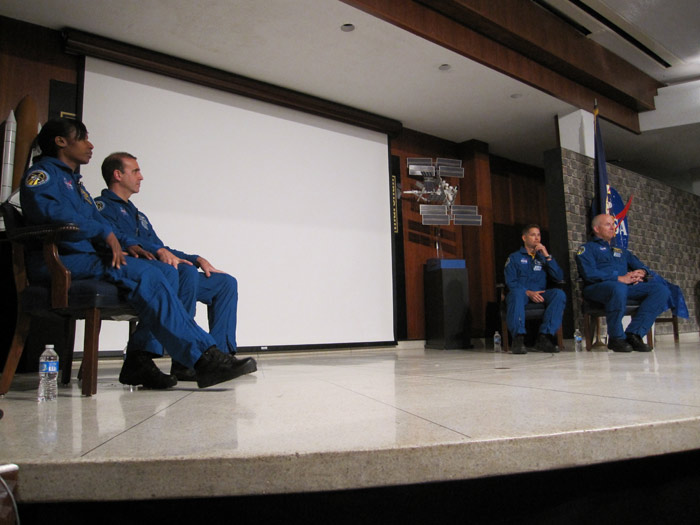 STS-131 Crew at Marshal Space Flight Center
