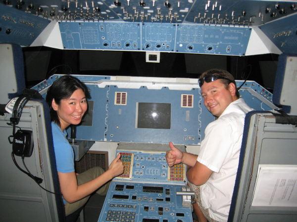 Tony and Nathalie on Enterprise Flight Deck