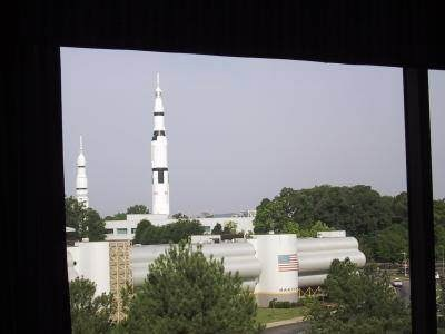 View of USSRC from Marriott Room, May 2002