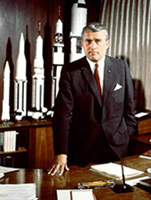 Werner von Braun at his Desk
