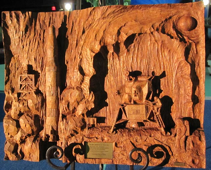 Wood Carving - Gift from von Braun to George Mueller
