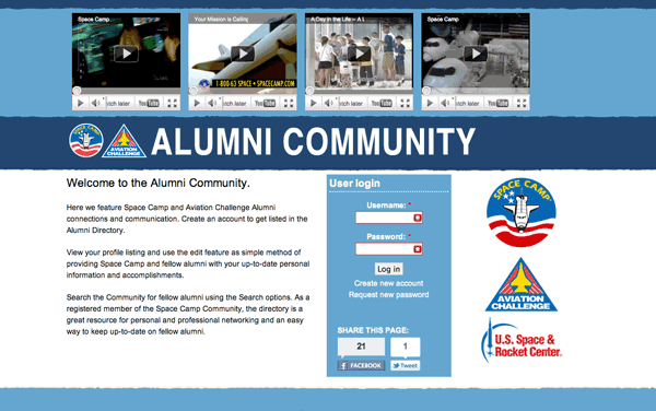 Alumni Community Landing Page - On Launch Day