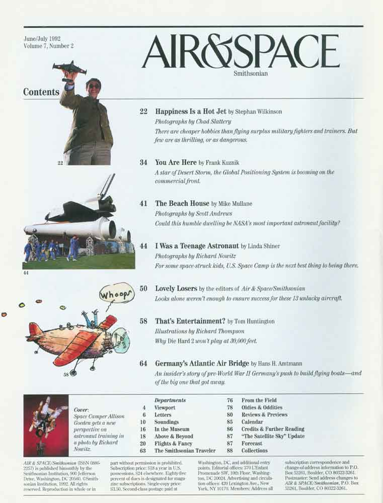 Air & Space Magazine - June-July 1992 - Table of Contents