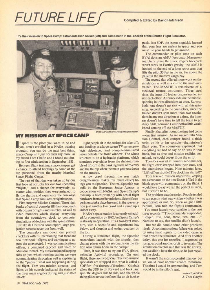 Starlog - July 1986 - Page 1