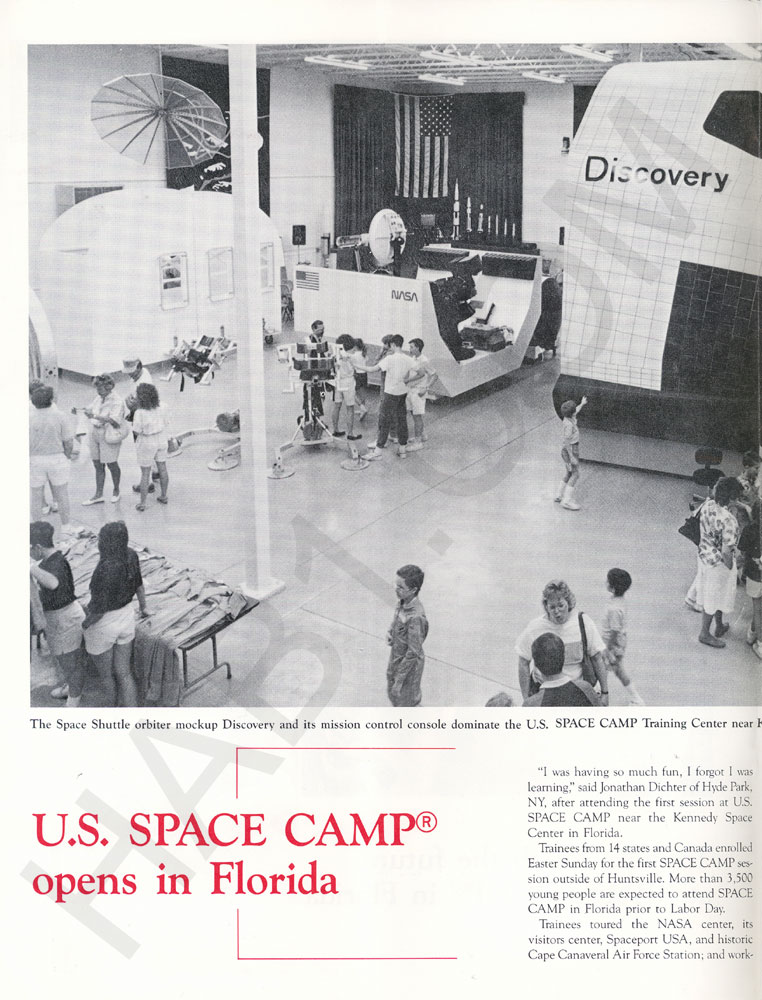 Space Camp News - Spring 1988 - Page 2