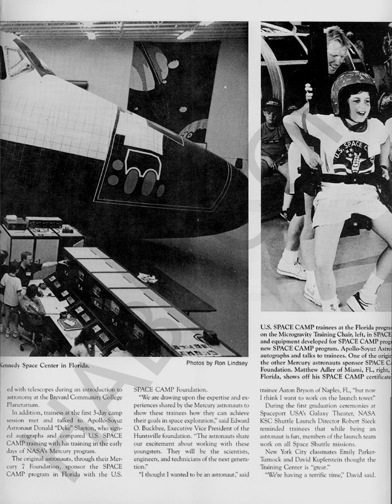 Space Camp News - Spring 1988 - Page 3
