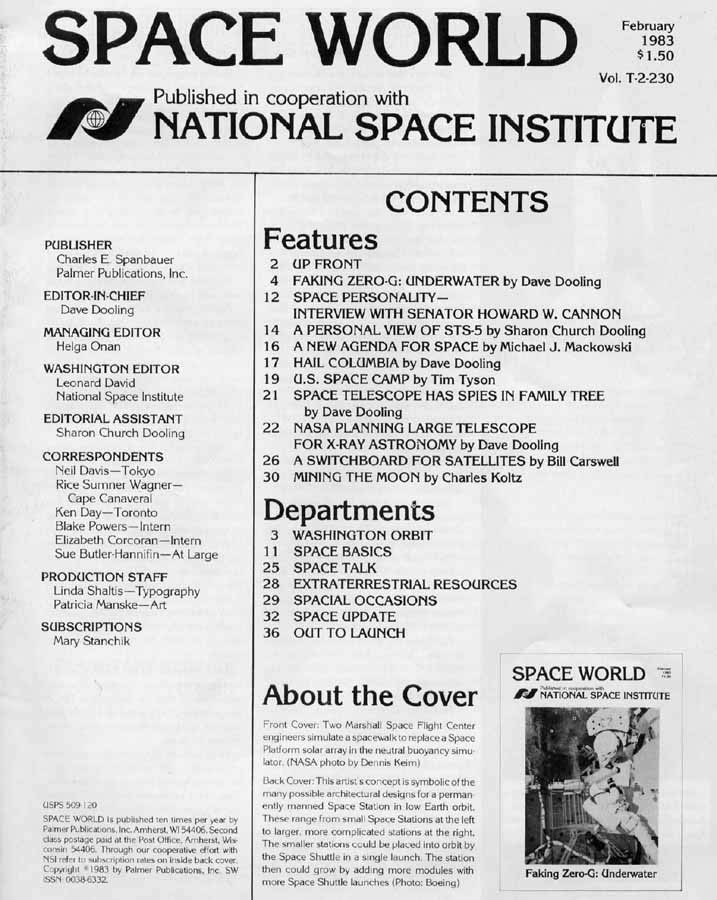 Space World - February 1983 - Table of Contents