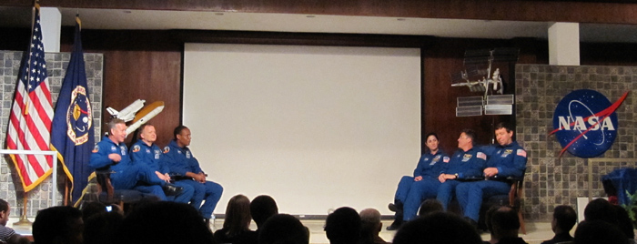 STS-133 Crew Visits Space Camp