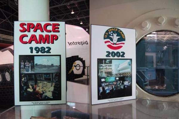 Space Camp Display - Comparison from 1982 to 2002