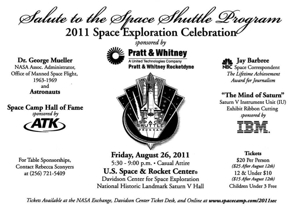 Salute to the Space Shuttle Program Invitation