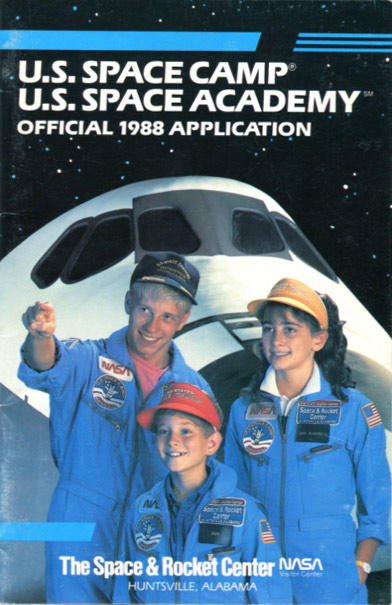 1988 Space Camp Brochure - Cover
