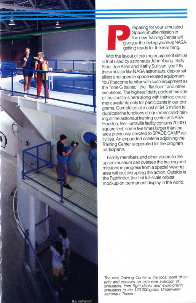 1988 Space Camp Brochure - Page 3