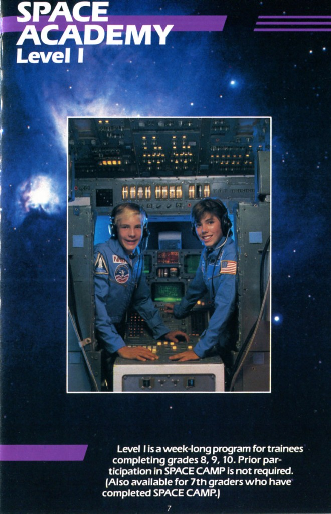 1988 Space Camp Brochure - Page 7