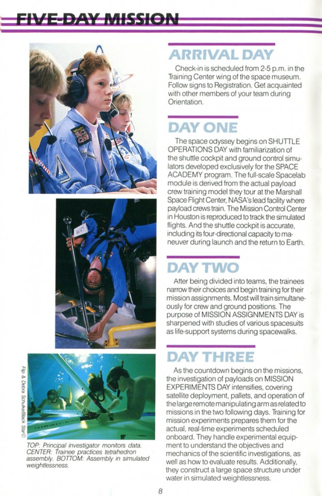 1988 Space Camp Brochure - Page 8