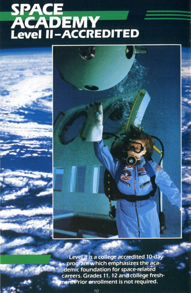 1988 Space Camp Brochure - Page 10