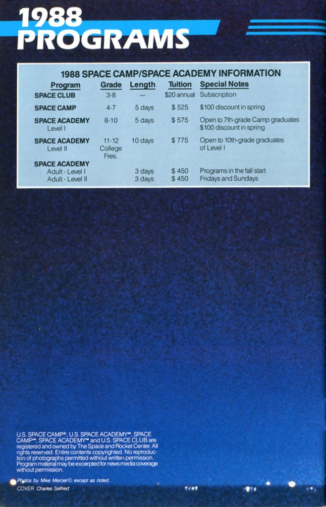 1988 Space Camp Brochure - Page 28