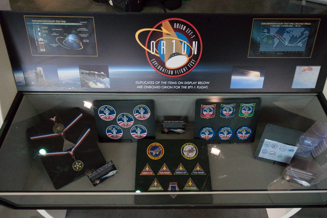 Space Camp Stuff Flies on Orion - Display Case