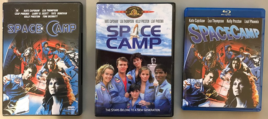 A photo of the 3 disc releases - 2 DVDs and the Blu-Ray